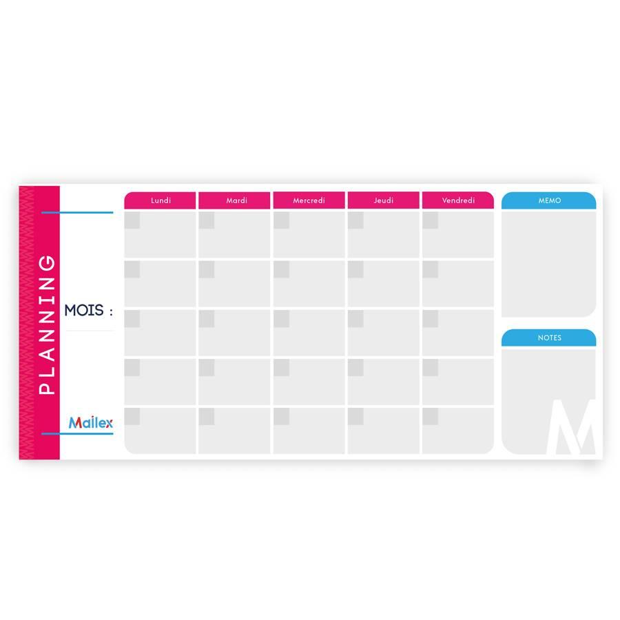 Planning mensuel 5 jours 7