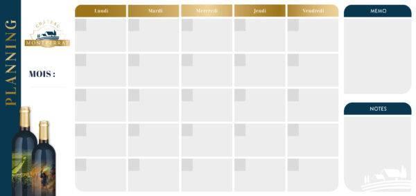 Planning mensuel 5 jours 2
