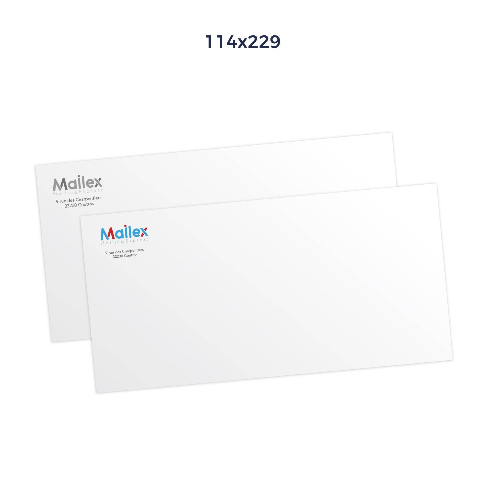 Enveloppes 114x229 Mécanisable 80g