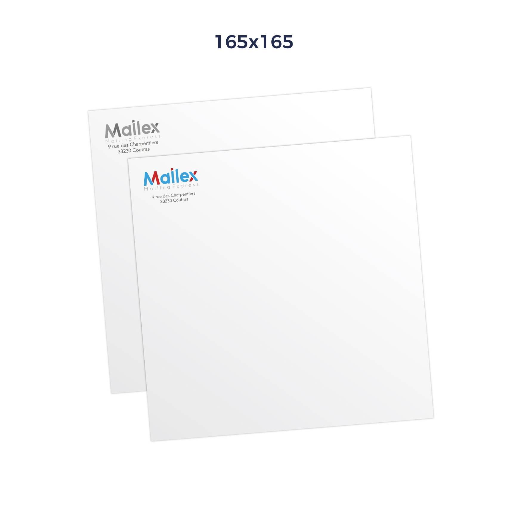 Enveloppes 165x165 gommée blanc90