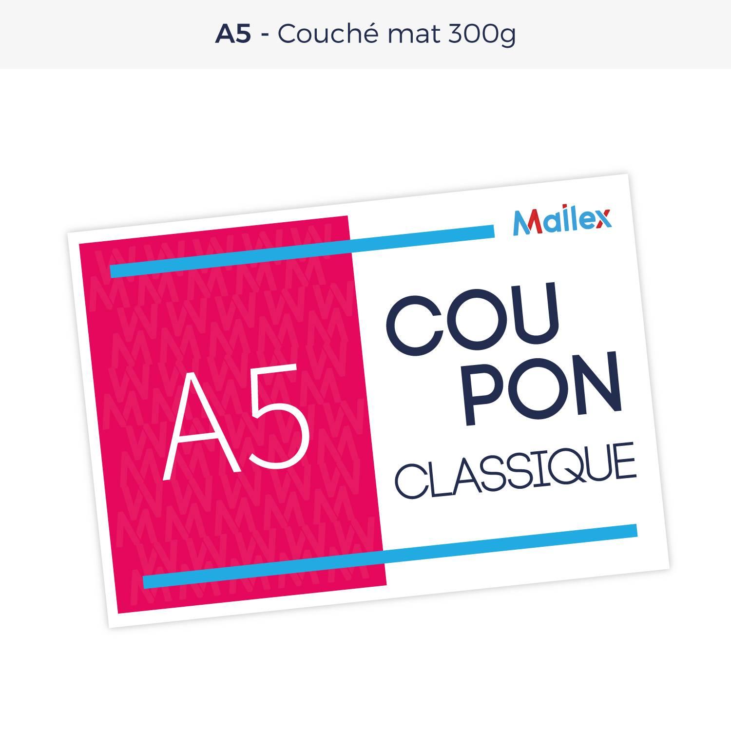 Coupon A5 Couché mat 300g